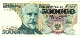 Poland 500000 Zlotych 1990 - SN# S 7287511 - Poland