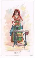 Singer Sewing Machine 1892 Litho Trade Card : ITALY Naples / NAPOLI - Mint ! - Non Classificati