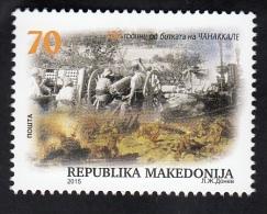 MACEDONIA, 2015, 100 YEARS BATTLLE OF CANAKKALE, - Mazedonien