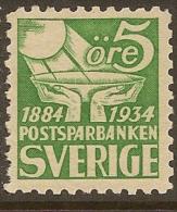 SWEDEN 1933 5o Savings Bank SG 181 HM #MF43 - Suède
