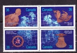 CANADA, 1987. # 1144a, SHIPWRECKS: HAMILTON SCOURGE 1813, SAN JUAN 1565, BREADALBANE 1853 & ERICSSON 1892 - Blocks & Sheetlets