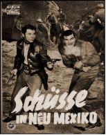 """Das Neue Film-Programm Von Ca. 1957  -  """"Schüsse In Neu Mexiko""""  -  Mit Audie Murphy - Faith Domergue - Magazines"""