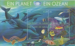 United Nations Block 26 - 50th Ann. International Oceanographic Commission - Dolphin - Turtle - Shark * * 2010 - New York – UN Headquarters