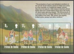 TRISTAN DA CUNHA, 1984 WOOL INDUSTRY MINISHEET MNH - Tristan Da Cunha