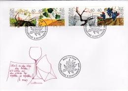 Liechtenstein FDC: 1994 Wine Grapes (G73-35) - Wijn & Sterke Drank