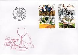 Liechtenstein FDC: 1994 Wine Grapes (G73-35) - Wein & Alkohol