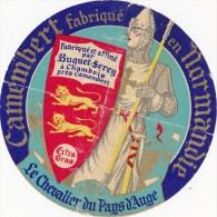 ETIQUETTE CAMEMBERT Le Chevalier Du Pays D'Auge-BUQUET-SEREY à CHAMBOIS(14) - Cheese