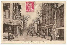 Cpa: 93 AULNAY SOUS BOIS  Avenue Anatole France (animée, Maison Julien Damoy,  Pharmacie)  N° 14 - Aulnay Sous Bois