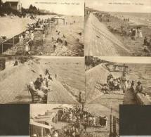 CHATELAILLON 5 CPA Animées De La Plage Sud (Bazar Prisien) Charente Maritime (17) - Châtelaillon-Plage