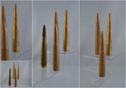 REPRODUCTION Cartouches Américaine De 12.7mm En Résine - Militaria
