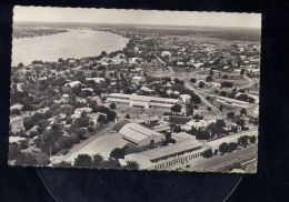 CP (Afr.) Tchad  -  Fort Lamy  - Avenue Edouard Renard  -  au 1� plan la poste -  vue a�rienne