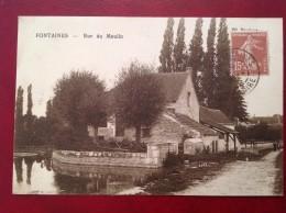 71 Saone Et Loire FONTAINES Rue Du Moulin + Cad Fontaines Et St Hippolyte Du Fort - Sonstige Gemeinden