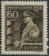 AJ0546 German Occupation Of Bohemia 1944 Hitler 1v MNH - Historia
