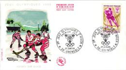 PREMIER JOUR ,JEUX OLYMPIQUES 1968,HOCKEY SUR GLACE  REF 43208 - Inverno1968: Grenoble