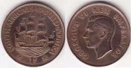 Sud Africa 1 Penny 1941 Brithish Dominion - George VI Km#25 - Used - Sud Africa