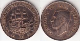 Sud Africa 1 Penny 1943 Brithish Dominion - George VI Km#25 - Used - Sud Africa