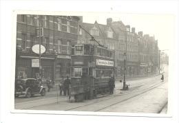 Surrey - Photography ( 9 X 13 Cm) CROYDON - Streatham - Oldtimer - Tram, Tramway 1951 (217) B68 - Trains