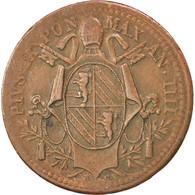 [#89185] Vatican, Pie IX, Mezzo (1/2) Baiocco 1849 IIII-R, KM 1340 - Vaticano (Ciudad Del)