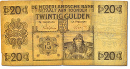 [#42864] Pays-Bas, 20 Gulden 1926, 25.5.1926, Pick 44 - [2] 1815-… : Kingdom Of The Netherlands