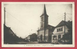 Carspach - L'Eglise Et La Mairie  ( Voir Verso ) - Otros Municipios