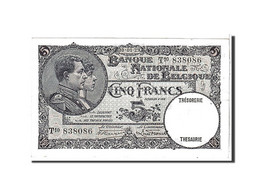 [#111114] Belgique, 5 Francs Type 1926-31 - [ 2] 1831-... : Belgian Kingdom