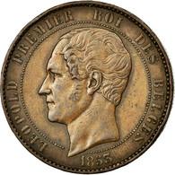 Monnaie, Belgique, 10 Centimes, 1853, TTB, Cuivre - 1831-1865: Léopold I