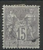 SAGE N/B - YVERT N°66 OBLITERE - COTE = 15 EUROS - 1876-1878 Sage (Type I)