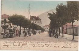 CPA ITALIE ITALIA DOMODOSSOLA Corso Vittorio Emanuele II Carte Colorisée 1904 - Verbania