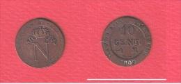 NAPOLEON I   --     10 Centimes   1809 M   --  état TB+ - France