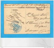 Service Santé- Place D´albertvilleN°2-le Medecin Chef -Cpa Alberville -arsenal Artillerie- 3 Mars 1915 - Marcophilie (Lettres)