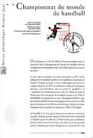 "2001 : Notice Officielle 1er Jour N° YT 3367 "" CHAMPIONNATS DU MONDE DE HANDBALL A NANTES "". Parfait état ! - Handball"