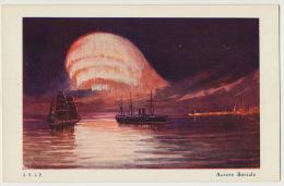 Art Card Signée  Aurore Boreale  J.S. à P. - Groenlandia