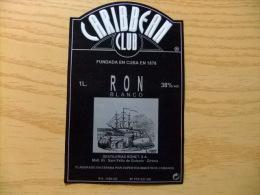 ETIQUETA - RON CARIBBEAN CLUB - LABEL - RON CARIBBEAN CLUB - Rhum