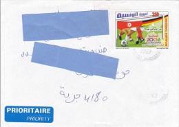 Z] Belle Enveloppe Nice Cover Tunisie Tunisia Football Soccer Coupe Du Monde World Cup Drapeau Flag - Tunisie (1956-...)