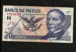 MEXICO - BANCO De MEXICO - 20 PESOS (1998) Benito Juarez - Messico