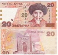 Kyrgyzstan - 20 Som 2002 UNC Ukr-OP - Kirgisistan