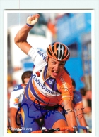 Beat ZBERG , Autographe Manuscrit, Dédicace. 2 Scans. Equipe Rabobank 2002 - Cycling