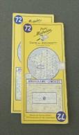 Carte Michelin France - Années 1960 - Numéro 72 - Angoulême - Limoges - Cartes Routières