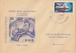 TERESHKOVA First WOMAN  SPACE Cosmonaut - 1968 Germany / DDR Post Cover RARE !!! - Europa