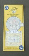 Carte Michelin France - Années 1960 - Numéro 74 - Lyon - Genève - Cartes Routières