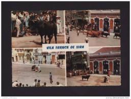 VILA FRANCA DE XIRA 1960s FESTASD DO BARRETE ENCARNADO BULLFIGHT HORSES BULL TORADA TOURADAS BULLFIGHT PORTUGAL POSTCARD - Toros
