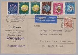 Schweiz 1948-02-31 Romanshorn Luftpost Brief Nach Waterloo NY USA - Suisse