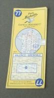 Carte Michelin France - Années 1960 - Numéro 77 - Valence - Grenoble - Cartes Routières