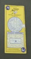 Carte Michelin France - Années 1960 - Numéro 79 - Bordeaux - Montauban - Cartes Routières