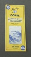 Carte Michelin France - Années 1960 - Numéro 90 - Corse - Cartes Routières