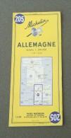 Carte Michelin Allemagne - Années 1960 - Numéro 205 - Allemagne - Cartes Routières