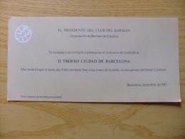 INVITACIÓN CONCURSO DE COCKTELERIA EN BARCELONA - INVITATION CONCOURS De Cocktelería BARCELONE - Tickets - Entradas