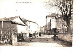 FOUR  (38)  Grande Rue  (carte Rare) - France