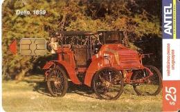 Nº 349 TARJETA DE URUGUAY DE UN COCHE DELIN 1899  (la De La Foto) CAR - Uruguay