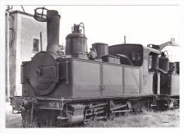 CP Moderne TRAIN 19 Le Mortier Gumond Vers Tulle Locomotive Vapeur 030 T Piguet N°8 En 1951 Phot Rifault VOIR DOS - Tulle